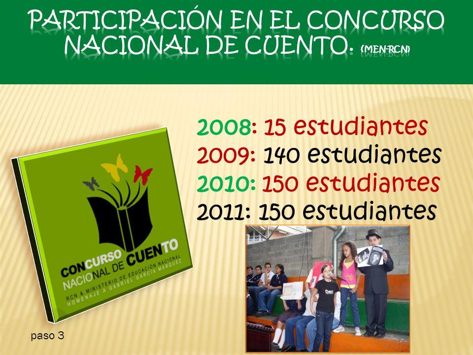 Participación en el Concurso Nacional de cuento. (MEN-RCN)