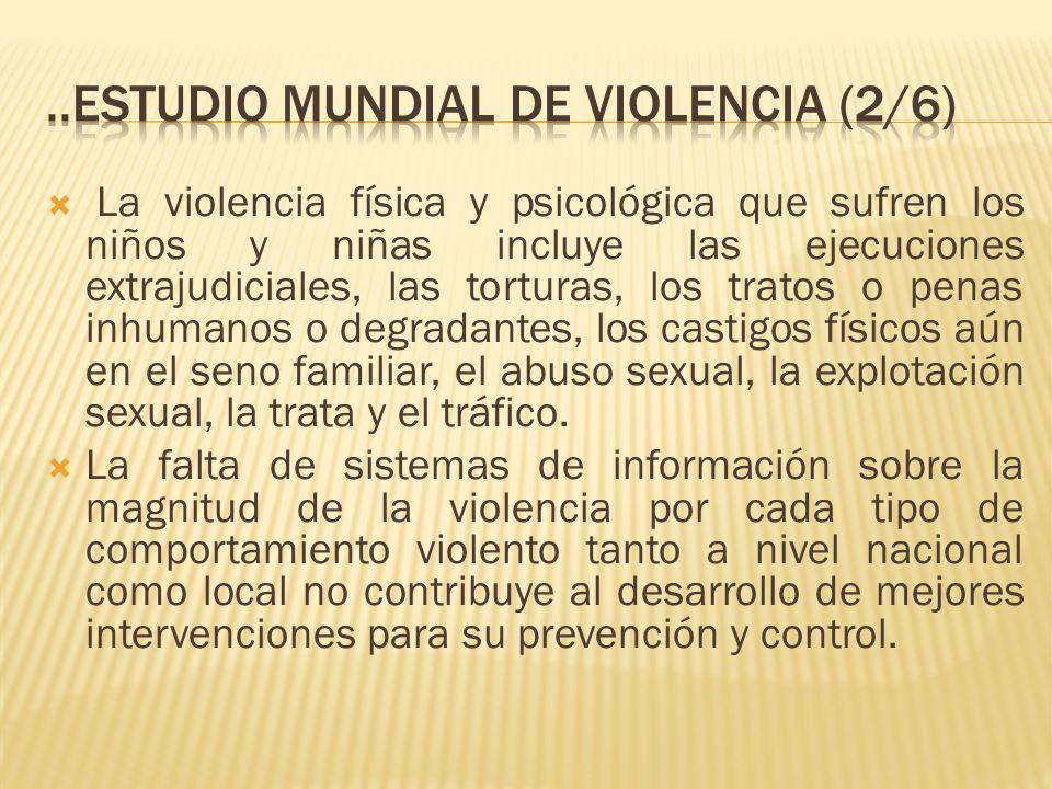 ..estudio mundial de violencia (2/6)