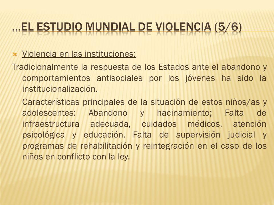 …el estudio mundial de violencia (5/6)