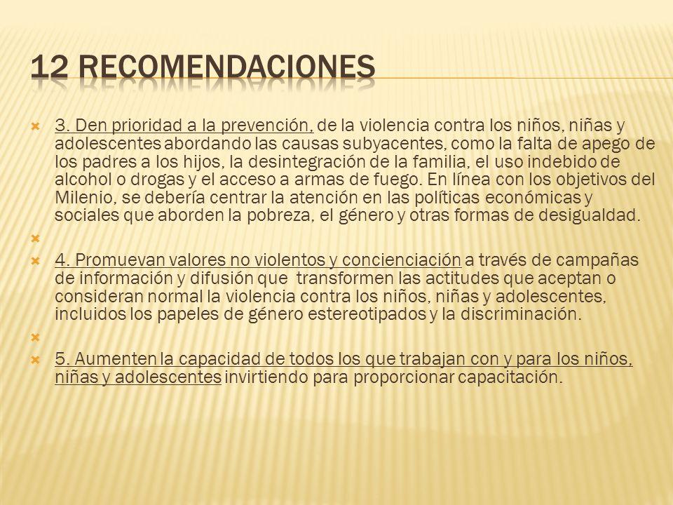 12 RecomendaciOnes