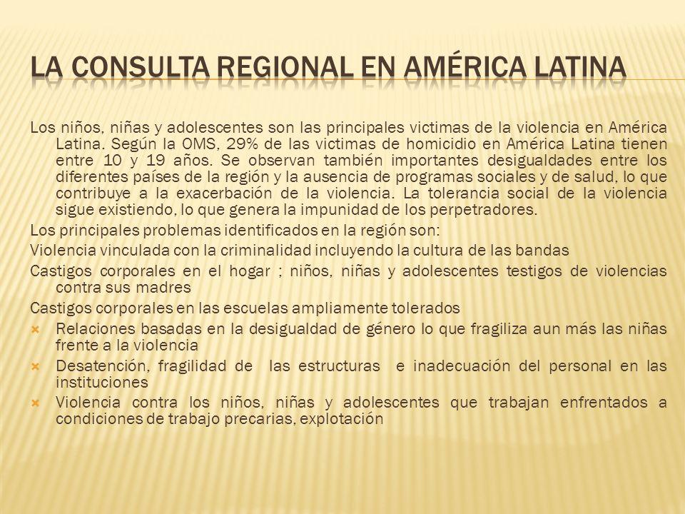 La consulta regional en América Latina