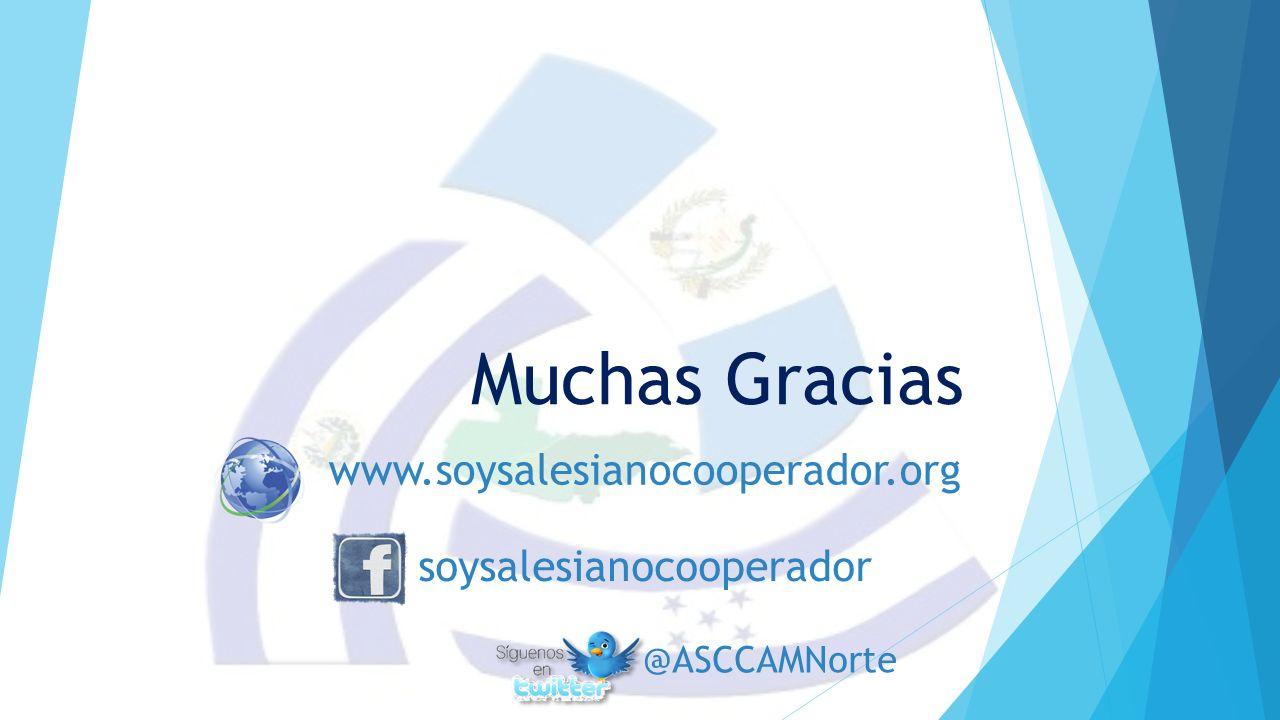 Muchas Gracias www.soysalesianocooperador.org soysalesianocooperador