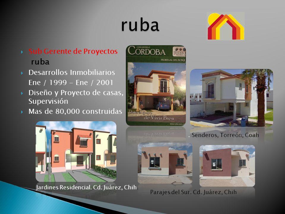 ruba Sub Gerente de Proyectos ruba Desarrollos Inmobiliarios