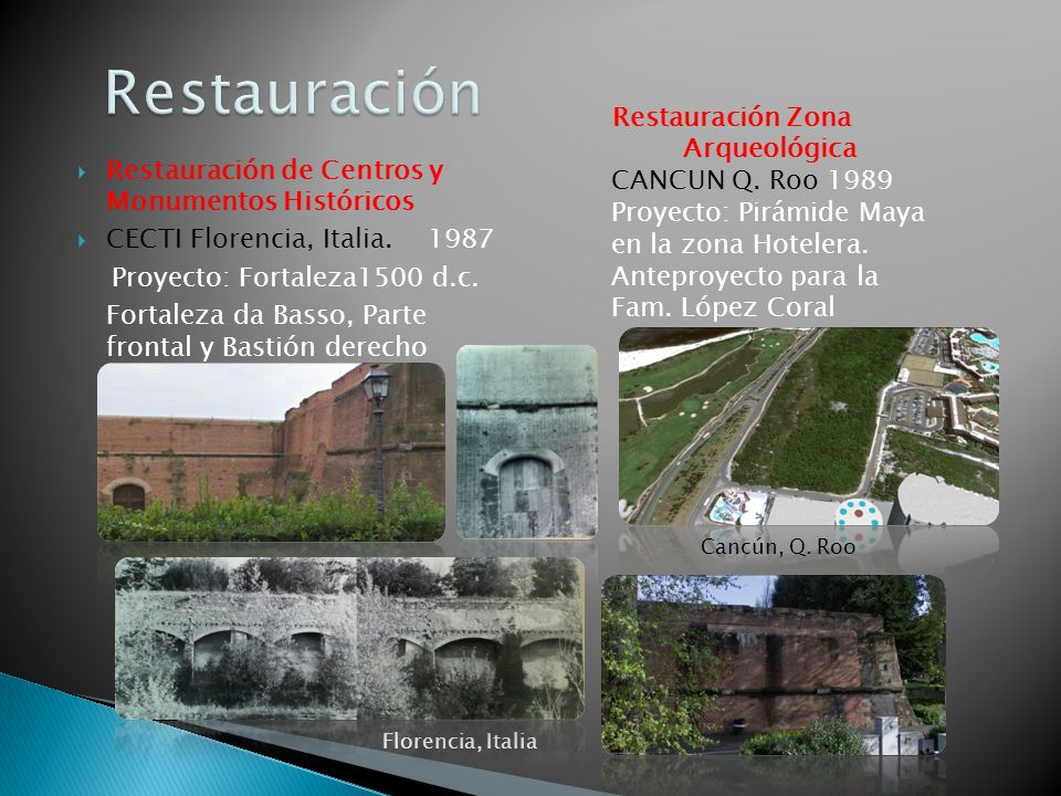 Restauración Restauración Zona Arqueológica CANCUN Q. Roo 1989