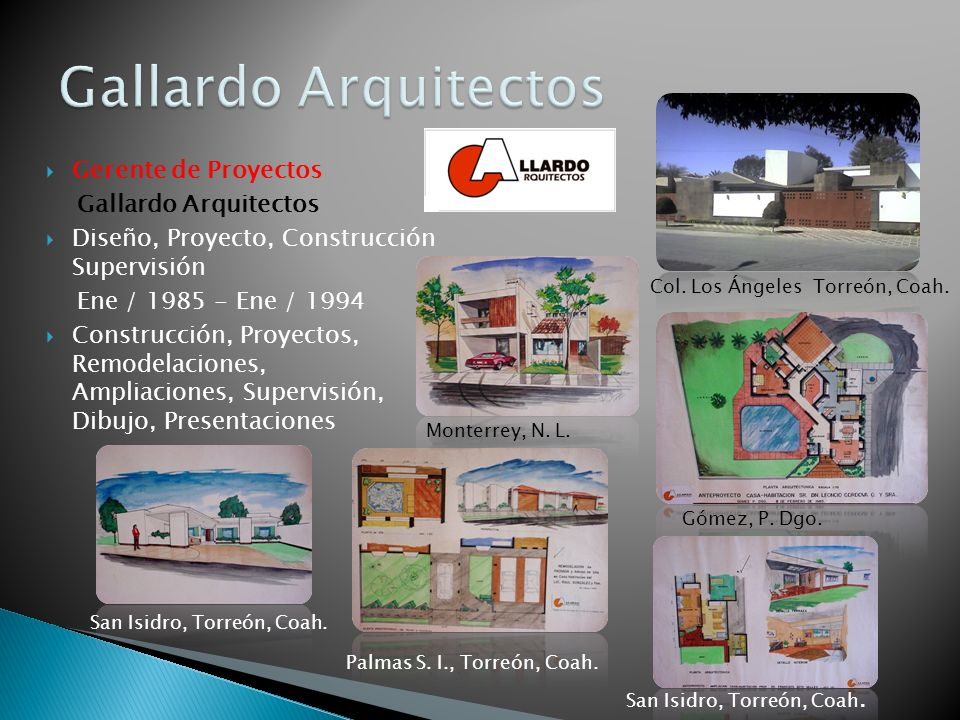 Gallardo Arquitectos Gerente de Proyectos Gallardo Arquitectos