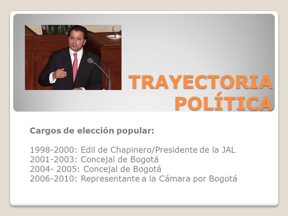 TRAYECTORIA POLÍTICA Cargos de elección popular: