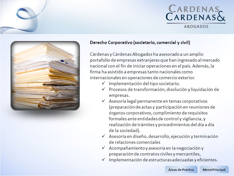 Derecho Corporativo (societario, comercial y civil)