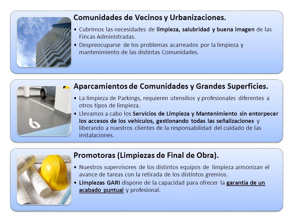 Comunidades de Vecinos y Urbanizaciones.