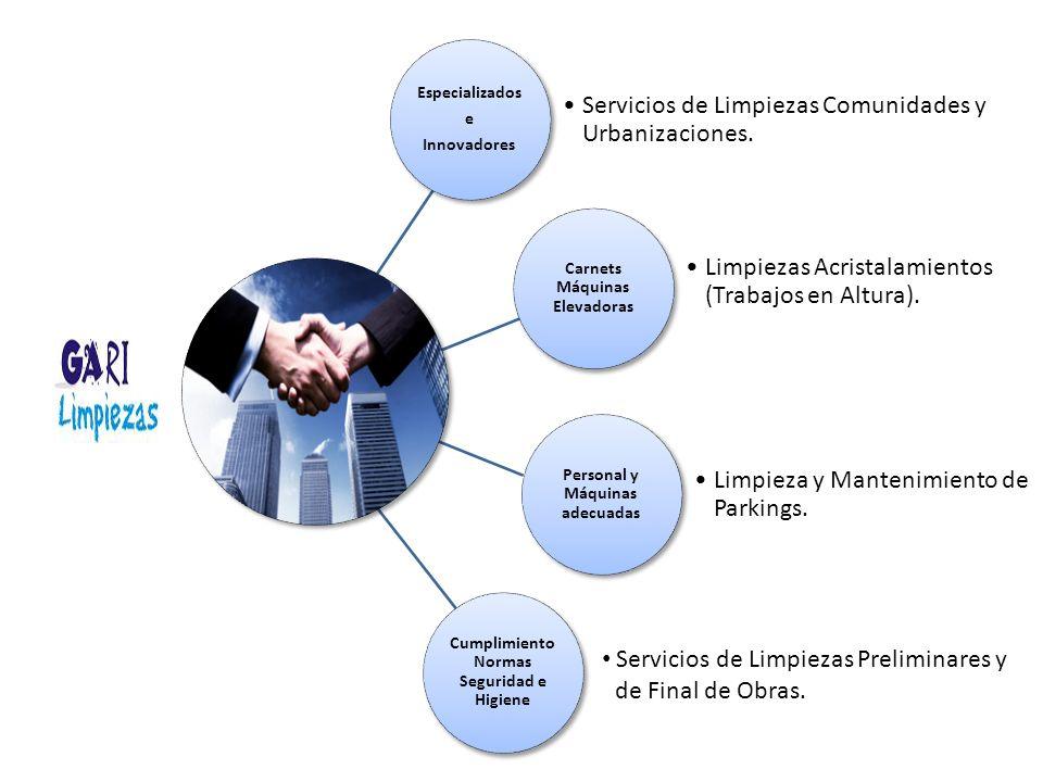 Servicios de Limpiezas Comunidades y Urbanizaciones.