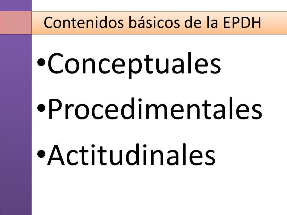 Contenidos básicos de la EPDH