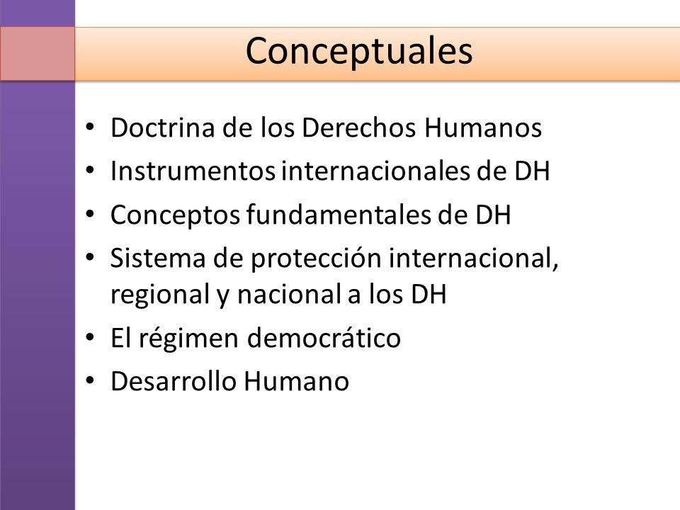 Conceptuales Doctrina de los Derechos Humanos