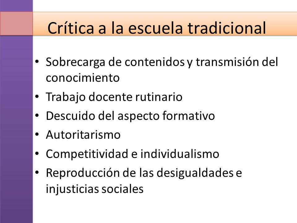 Crítica a la escuela tradicional