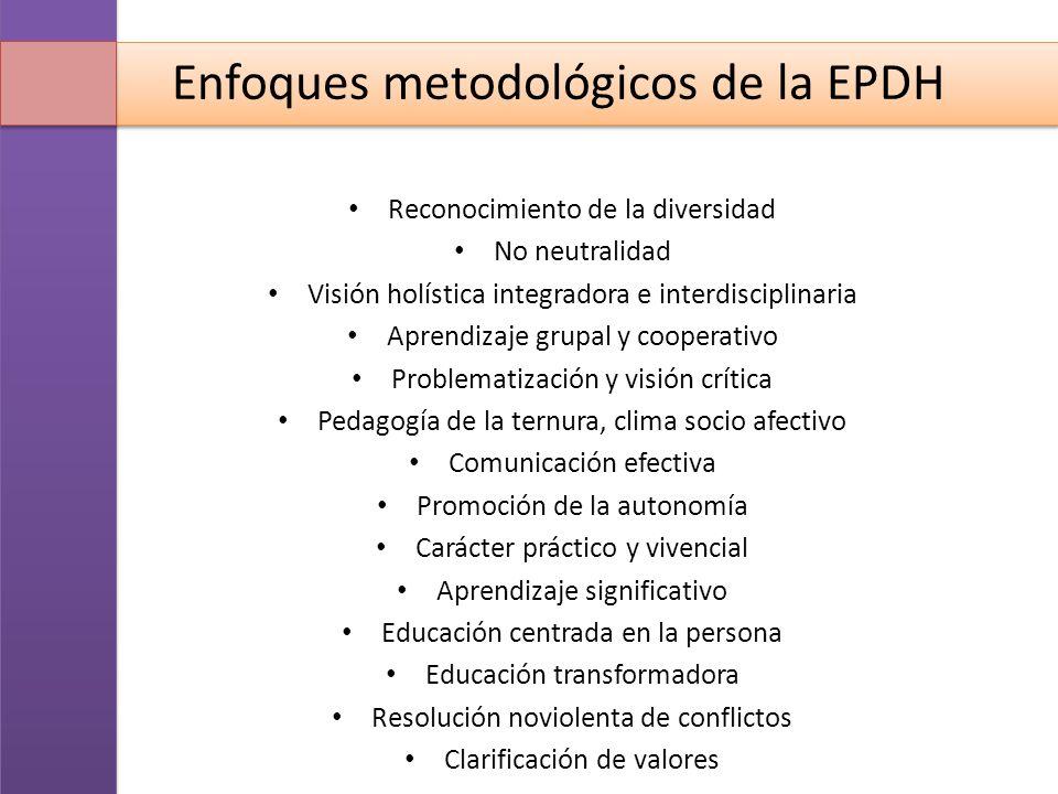 Enfoques metodológicos de la EPDH
