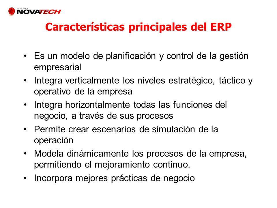 Características principales del ERP