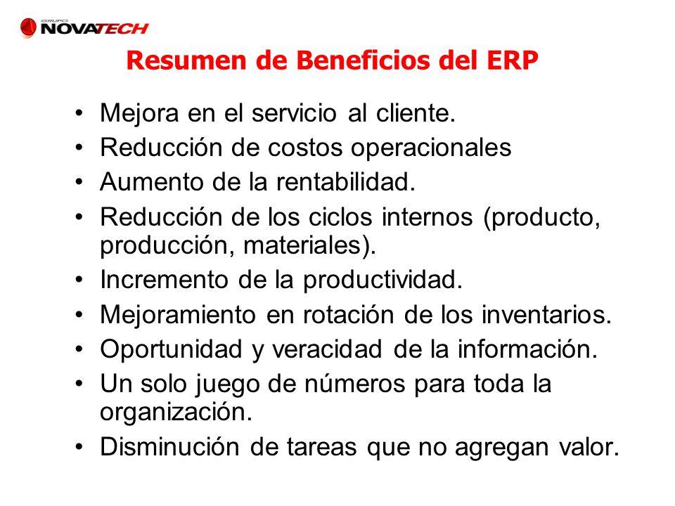 Resumen de Beneficios del ERP