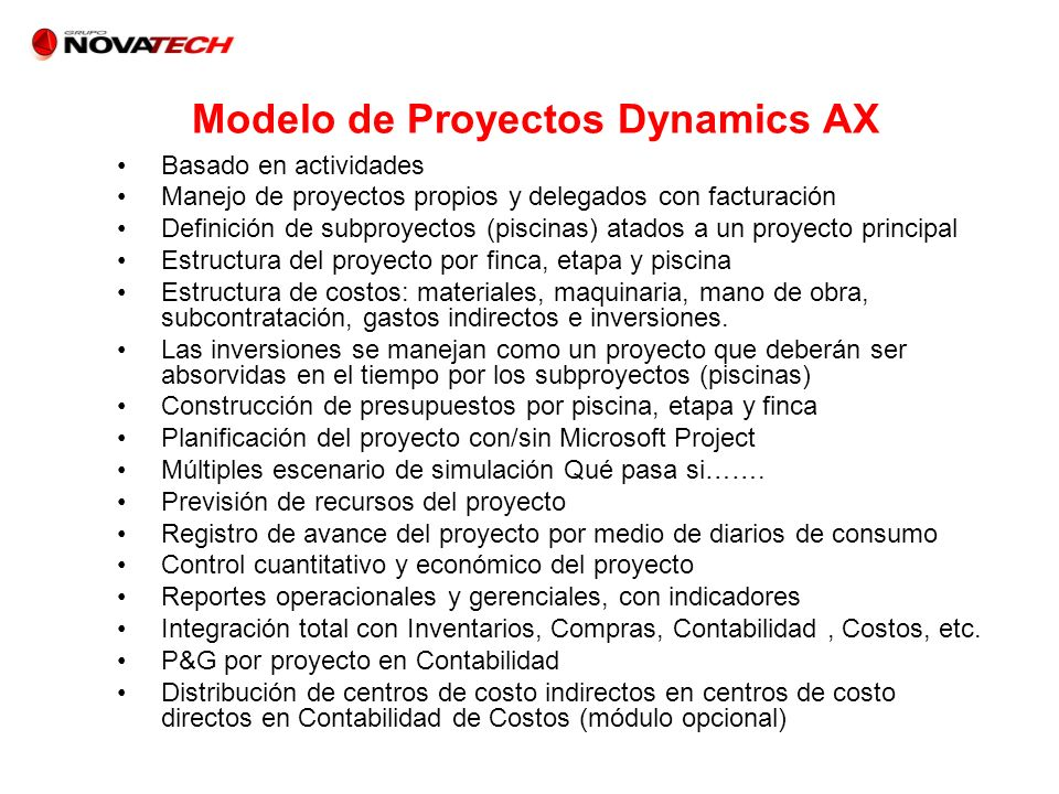 Modelo de Proyectos Dynamics AX
