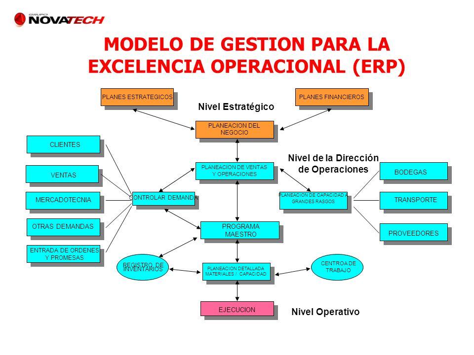 MODELO DE GESTION PARA LA EXCELENCIA OPERACIONAL (ERP)