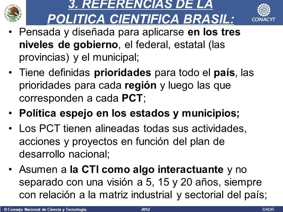 3. REFERENCIAS DE LA POLITICA CIENTIFICA BRASIL: