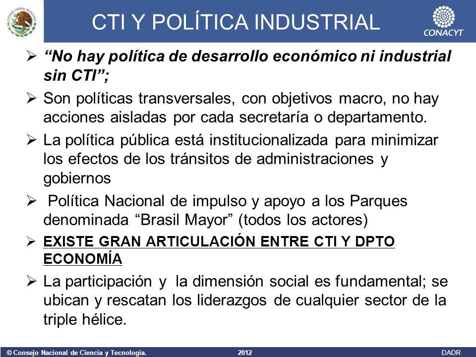 CTI Y POLÍTICA INDUSTRIAL