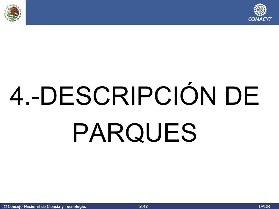 4.-DESCRIPCIÓN DE PARQUES