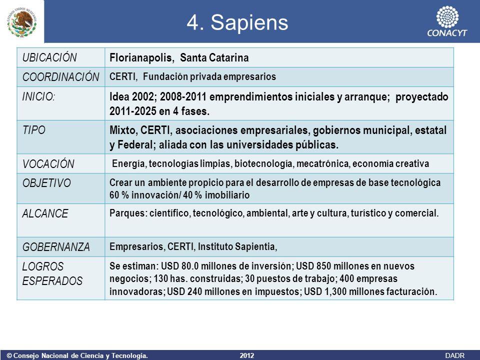 4. Sapiens UBICACIÓN Florianapolis, Santa Catarina COORDINACIÓN