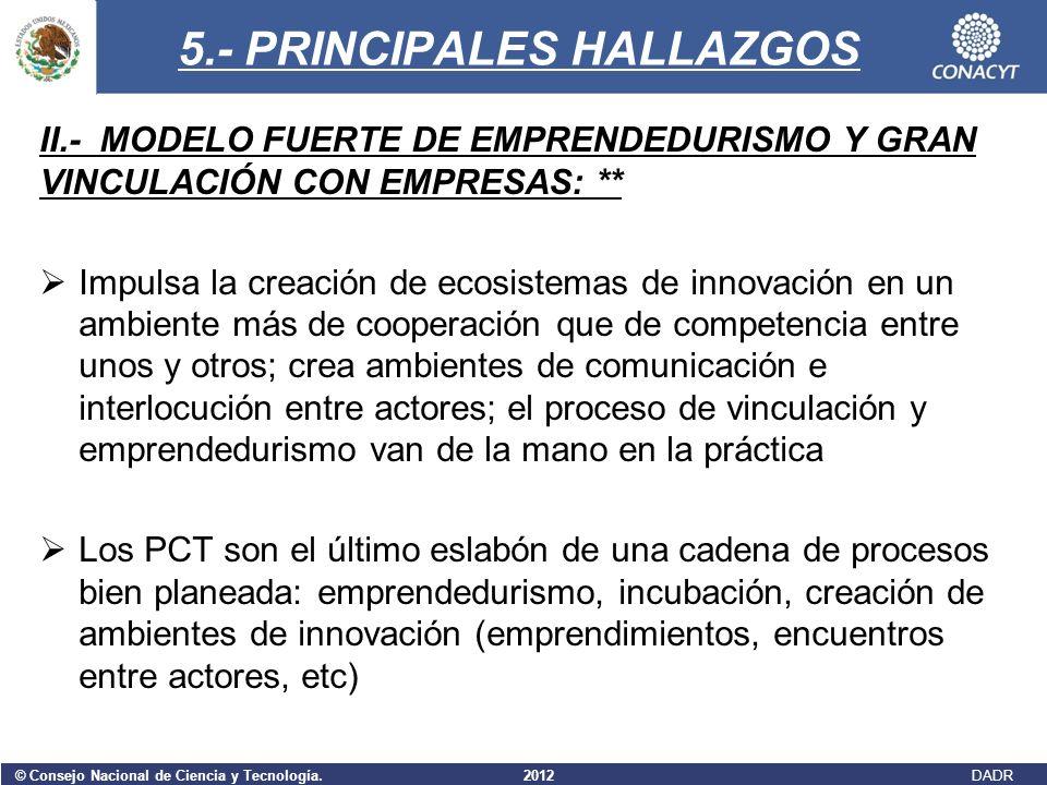5.- PRINCIPALES HALLAZGOS