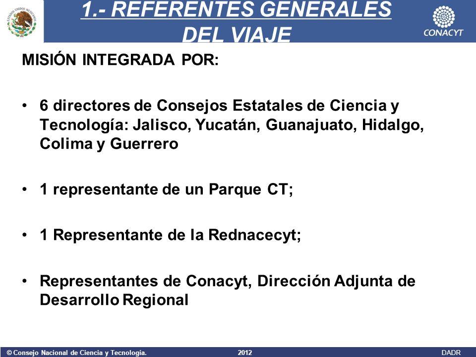 1.- REFERENTES GENERALES DEL VIAJE