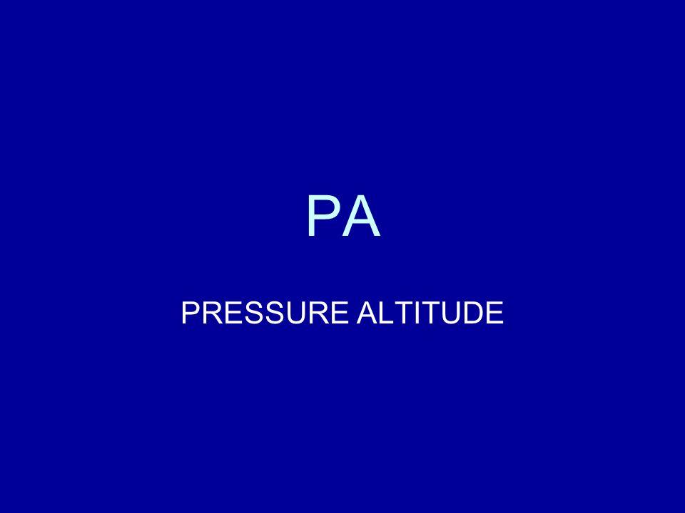 PA PRESSURE ALTITUDE