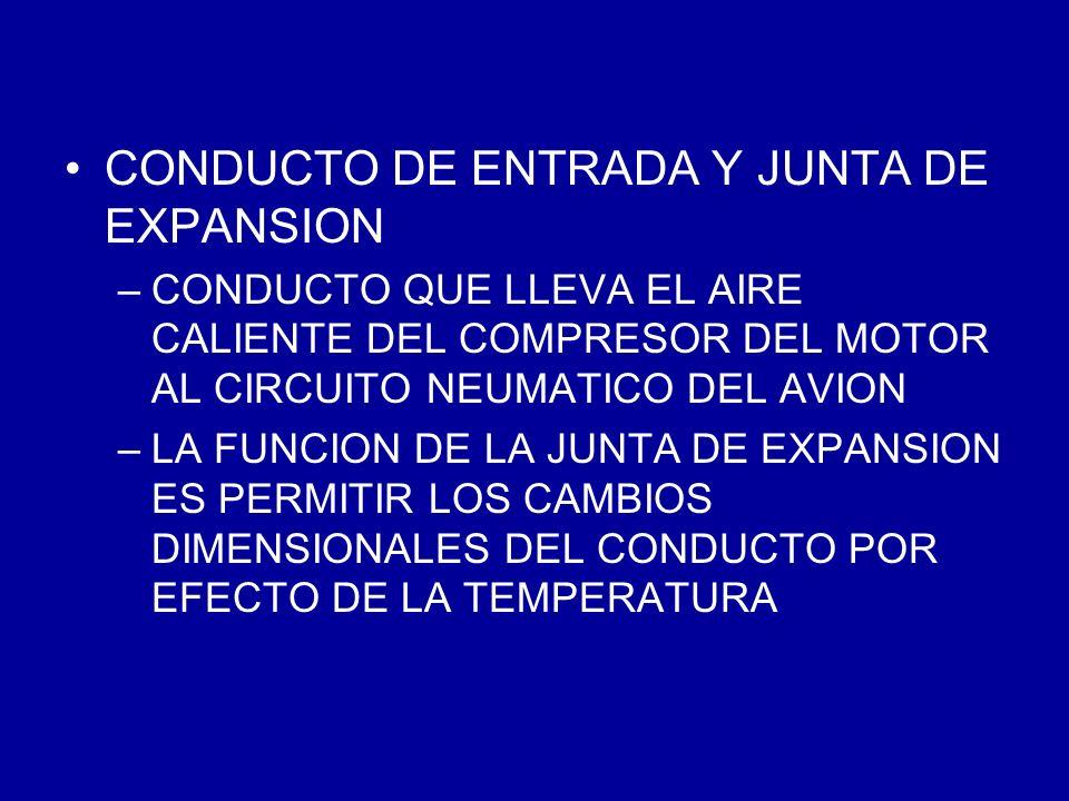 CONDUCTO DE ENTRADA Y JUNTA DE EXPANSION