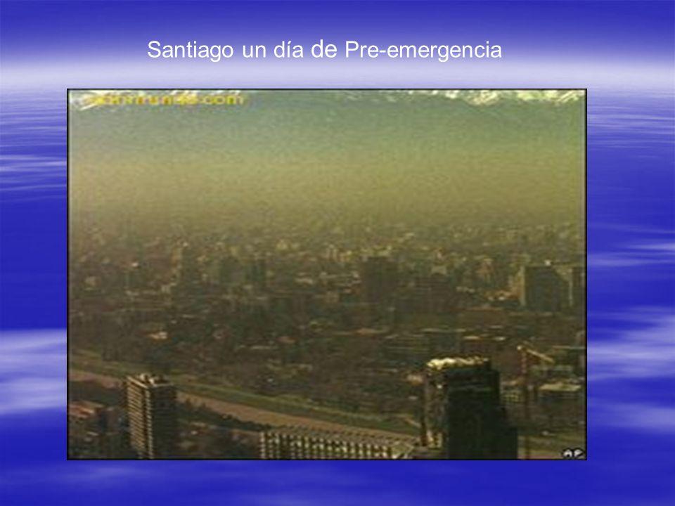 Santiago un día de Pre-emergencia