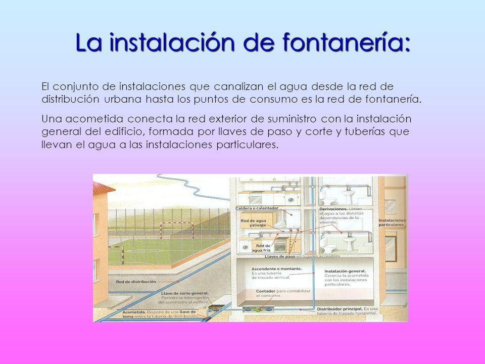 La instalación de fontanería: