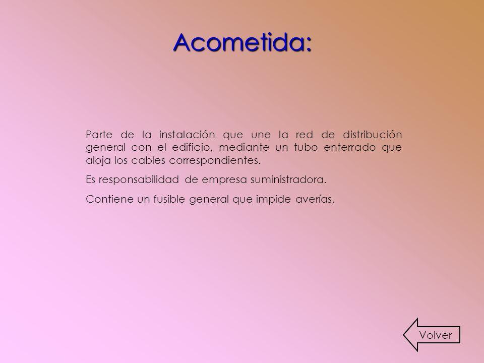 Acometida: