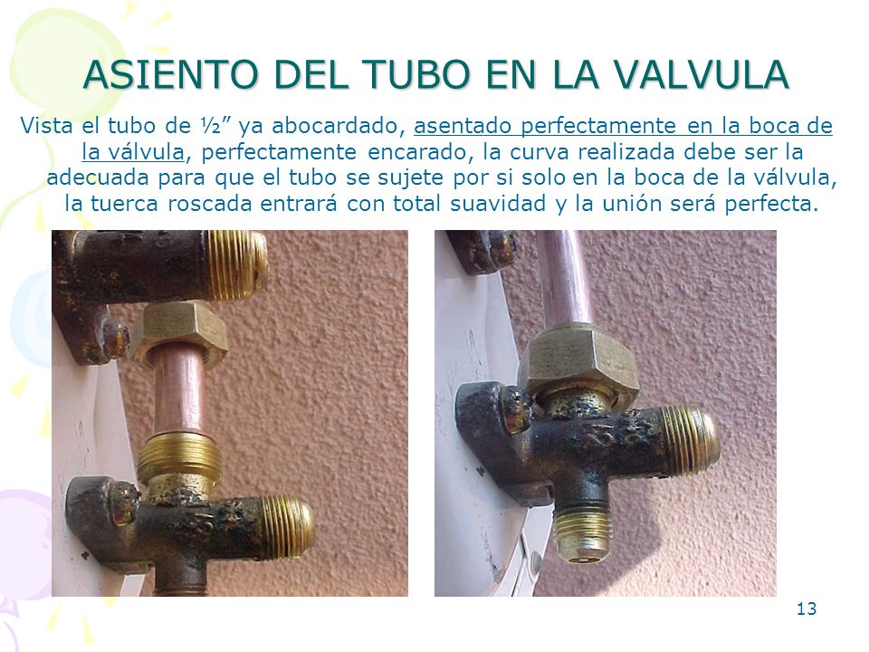 ASIENTO DEL TUBO EN LA VALVULA