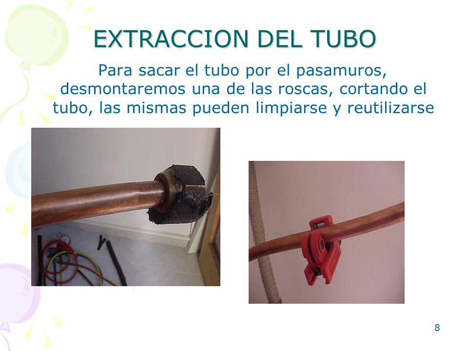 EXTRACCION DEL TUBO