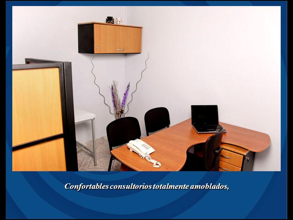 Confortables consultorios totalmente amoblados,