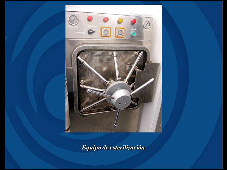 Equipo de esterilización.