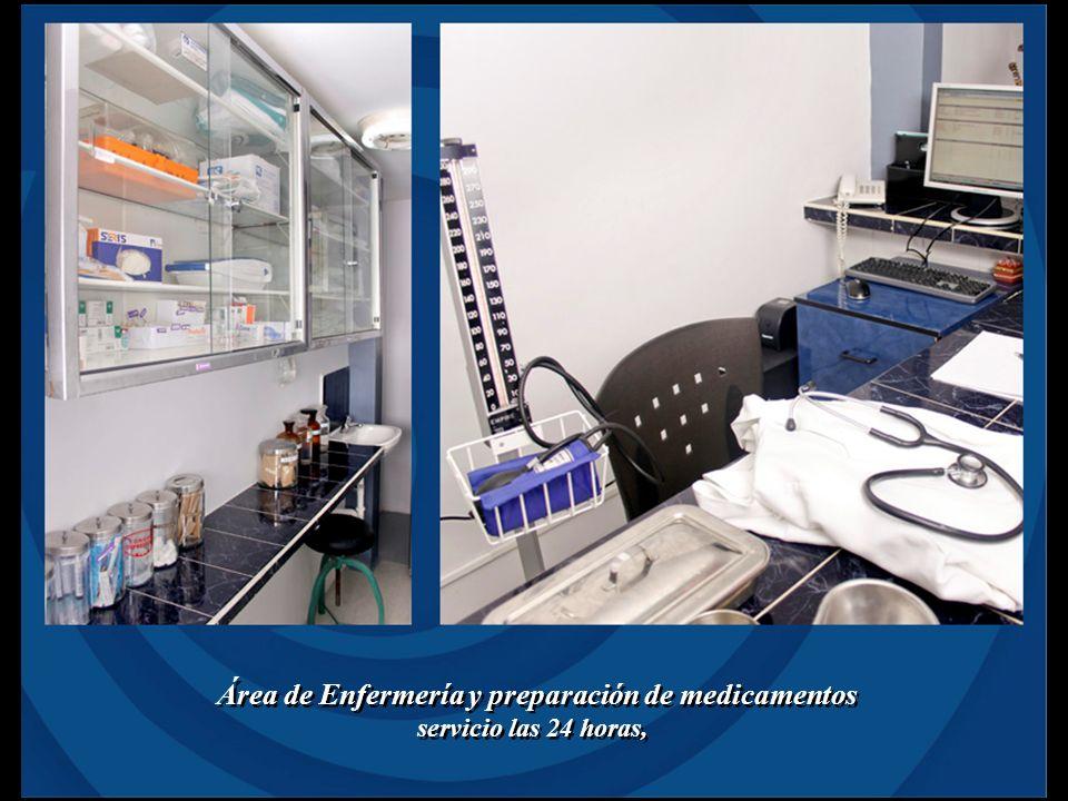 Área de Enfermería y preparación de medicamentos