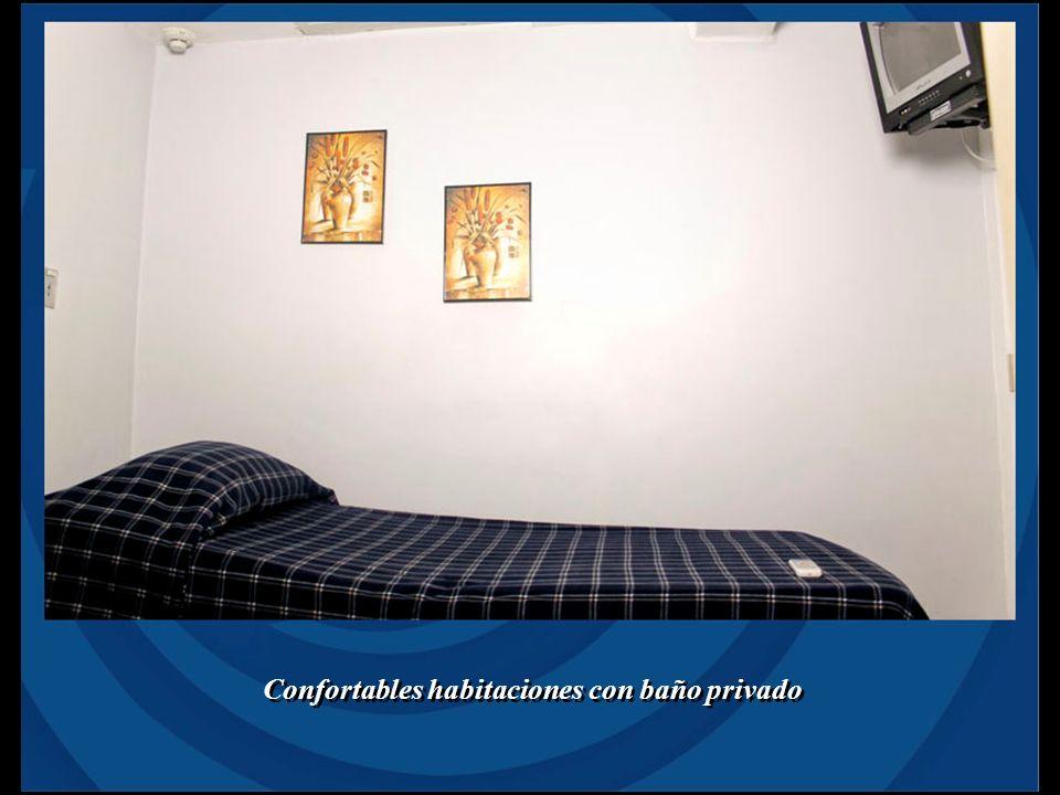 Confortables habitaciones con baño privado
