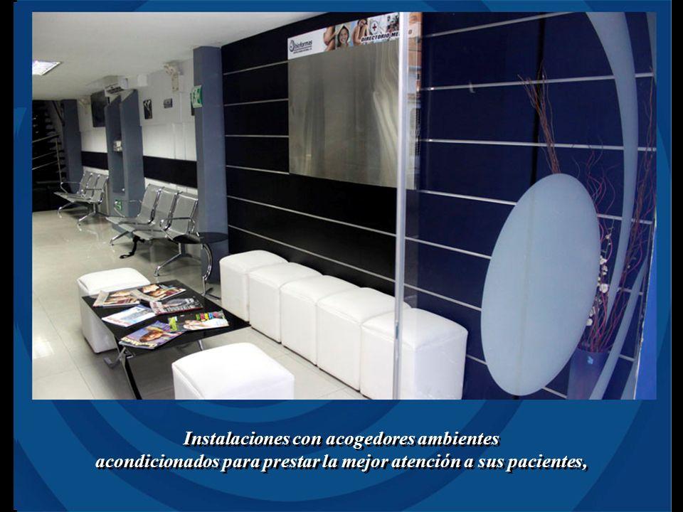 Instalaciones con acogedores ambientes