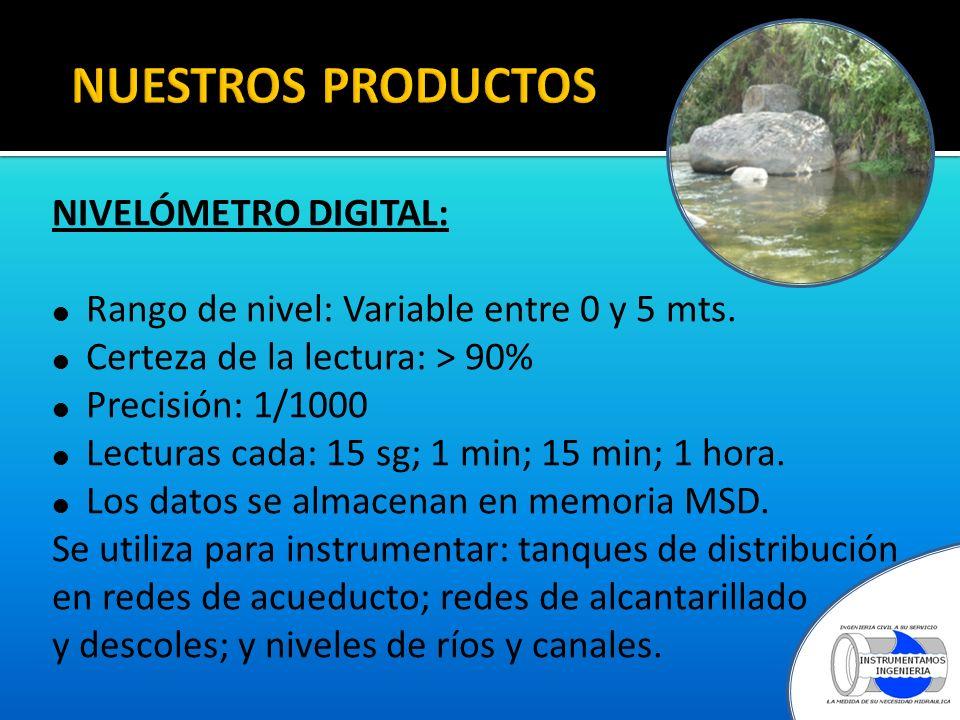 NUESTROS PRODUCTOS NIVELÓMETRO DIGITAL: