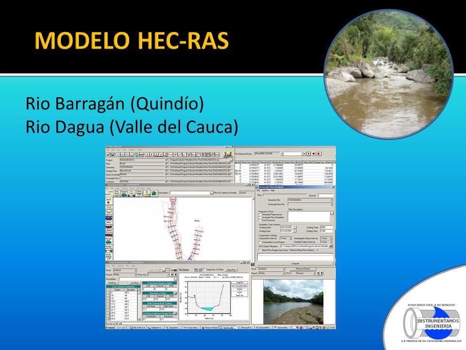 MODELO HEC-RAS Rio Barragán (Quindío) Rio Dagua (Valle del Cauca)