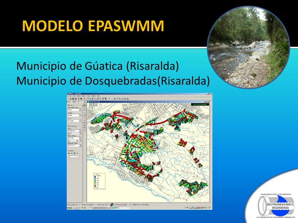 MODELO EPASWMM Municipio de Gúatica (Risaralda) Municipio de Dosquebradas(Risaralda)