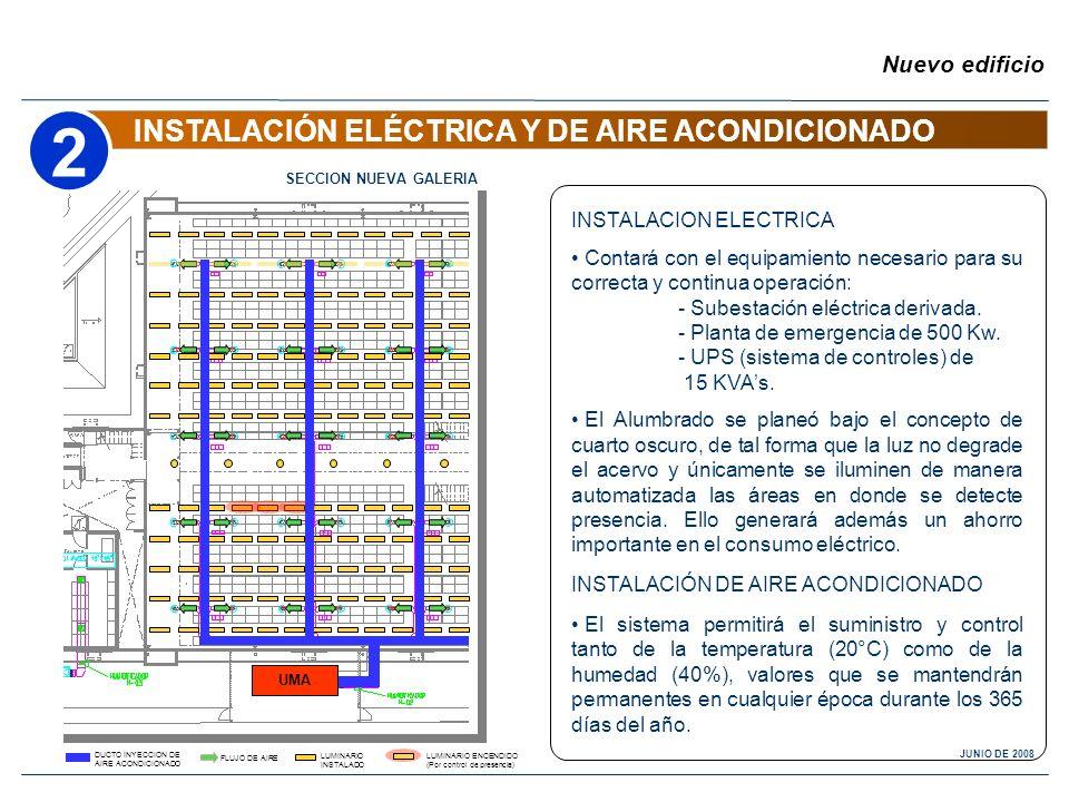2 INSTALACIÓN ELÉCTRICA Y DE AIRE ACONDICIONADO Nuevo edificio