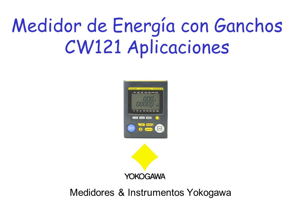 Medidor de Energía con Ganchos CW121 Aplicaciones