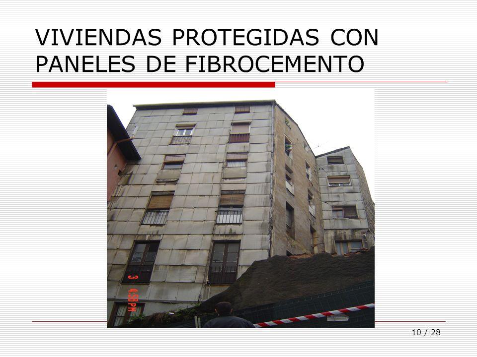 VIVIENDAS PROTEGIDAS CON PANELES DE FIBROCEMENTO