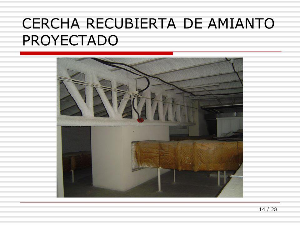CERCHA RECUBIERTA DE AMIANTO PROYECTADO