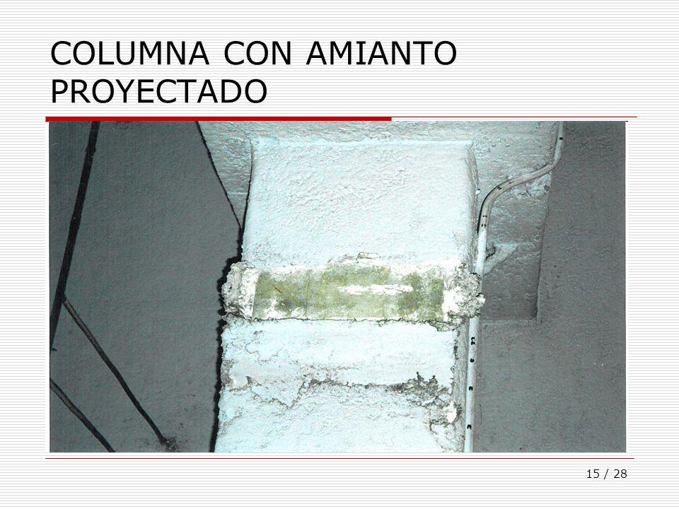 COLUMNA CON AMIANTO PROYECTADO