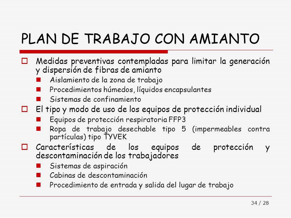 PLAN DE TRABAJO CON AMIANTO