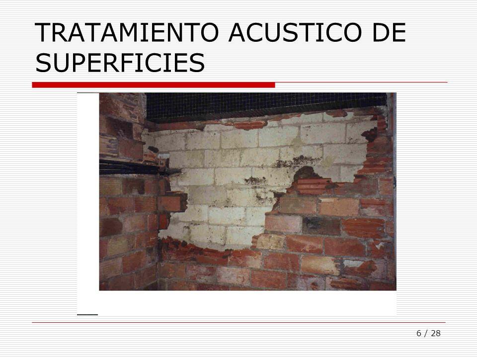 TRATAMIENTO ACUSTICO DE SUPERFICIES