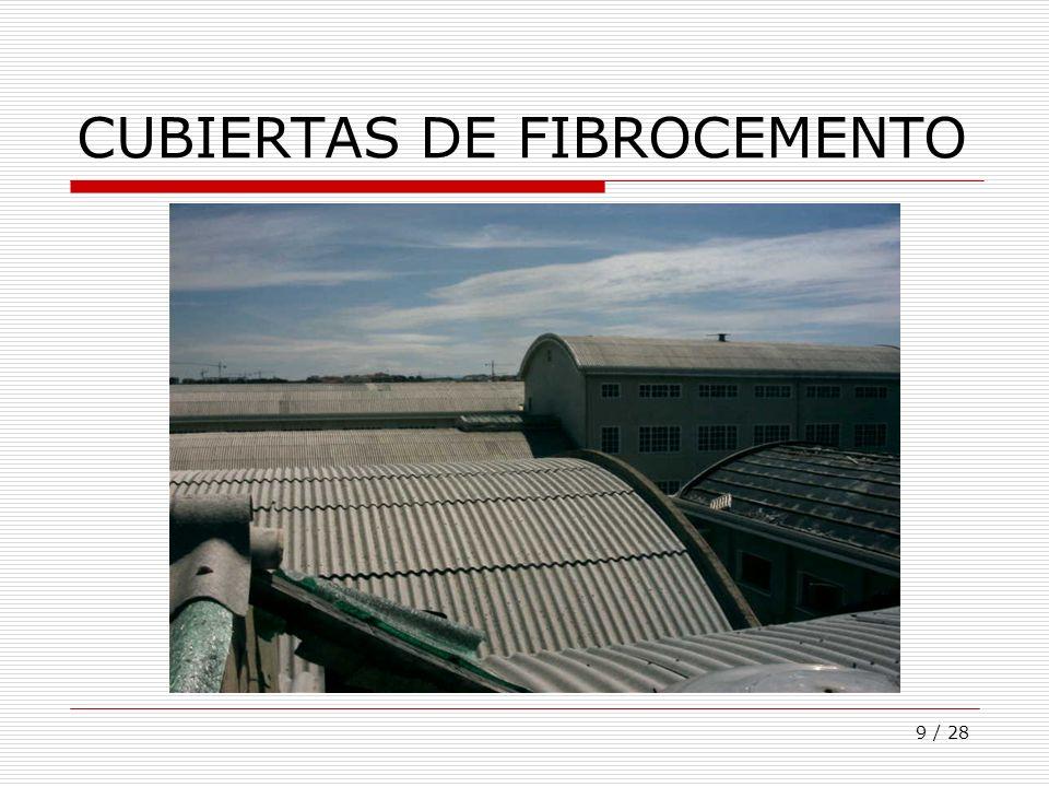 CUBIERTAS DE FIBROCEMENTO